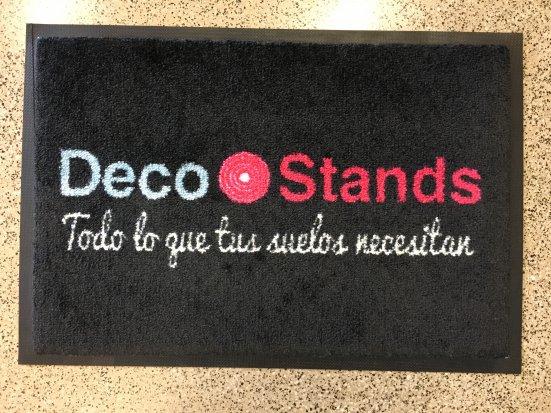 Felpudo textil printer DecoStands en DecoStands