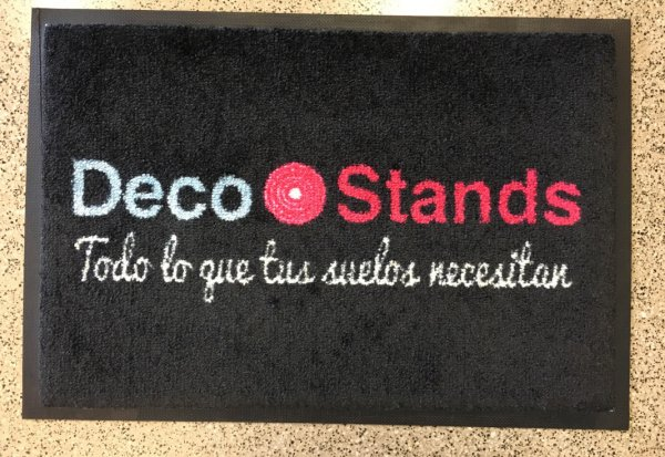 Felpudo textil printer DecoStands en DecoStands