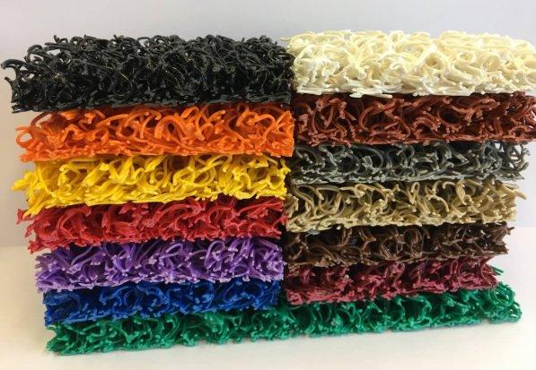 Felpudo Rizos Vinilo de 14 mm colores en DecoStands
