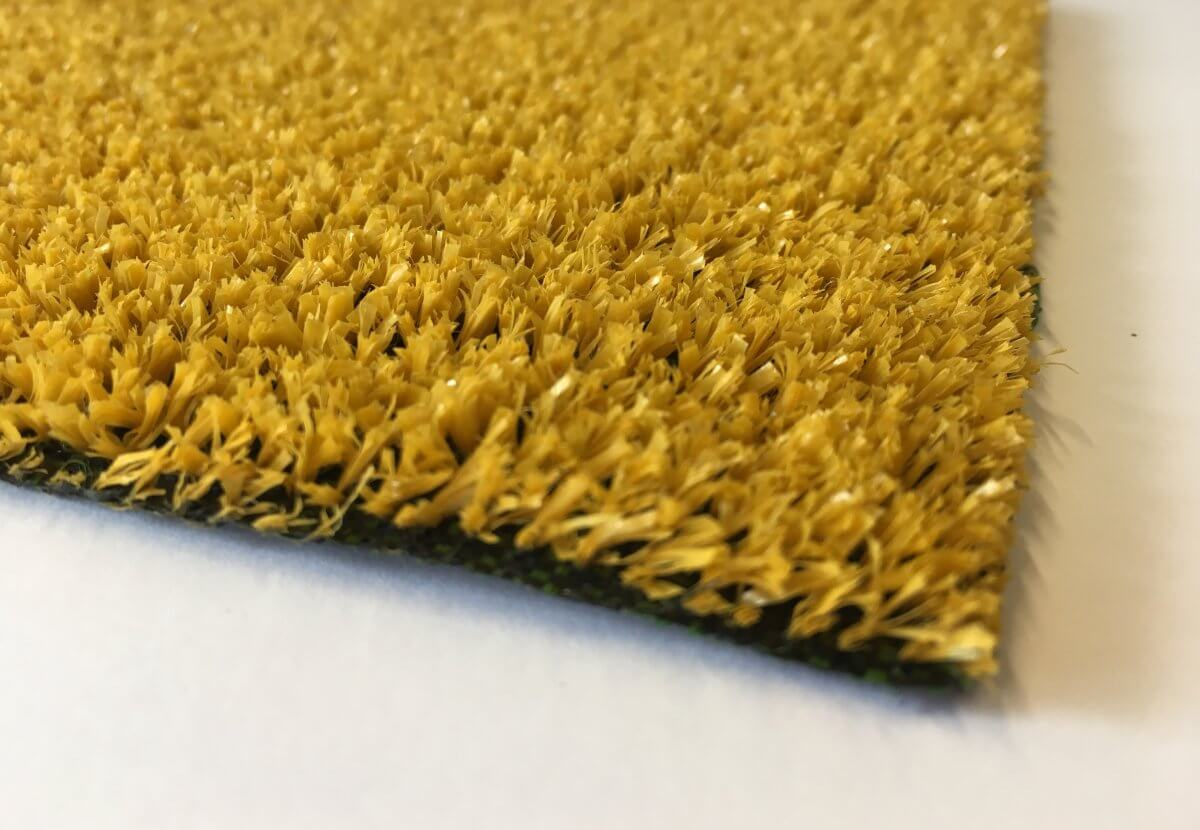 Césped Artificial Eco Amarillo en DecoStands