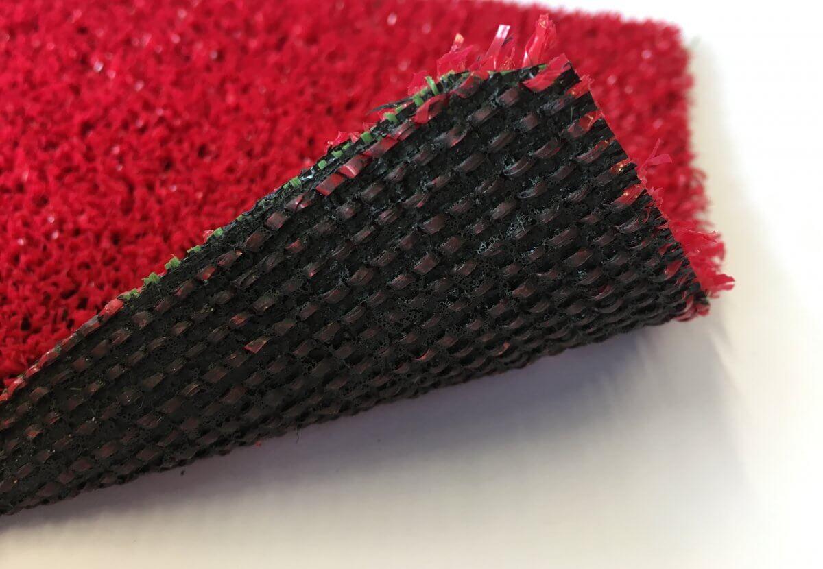 Césped Artificial Eco Rojo en DecoStands