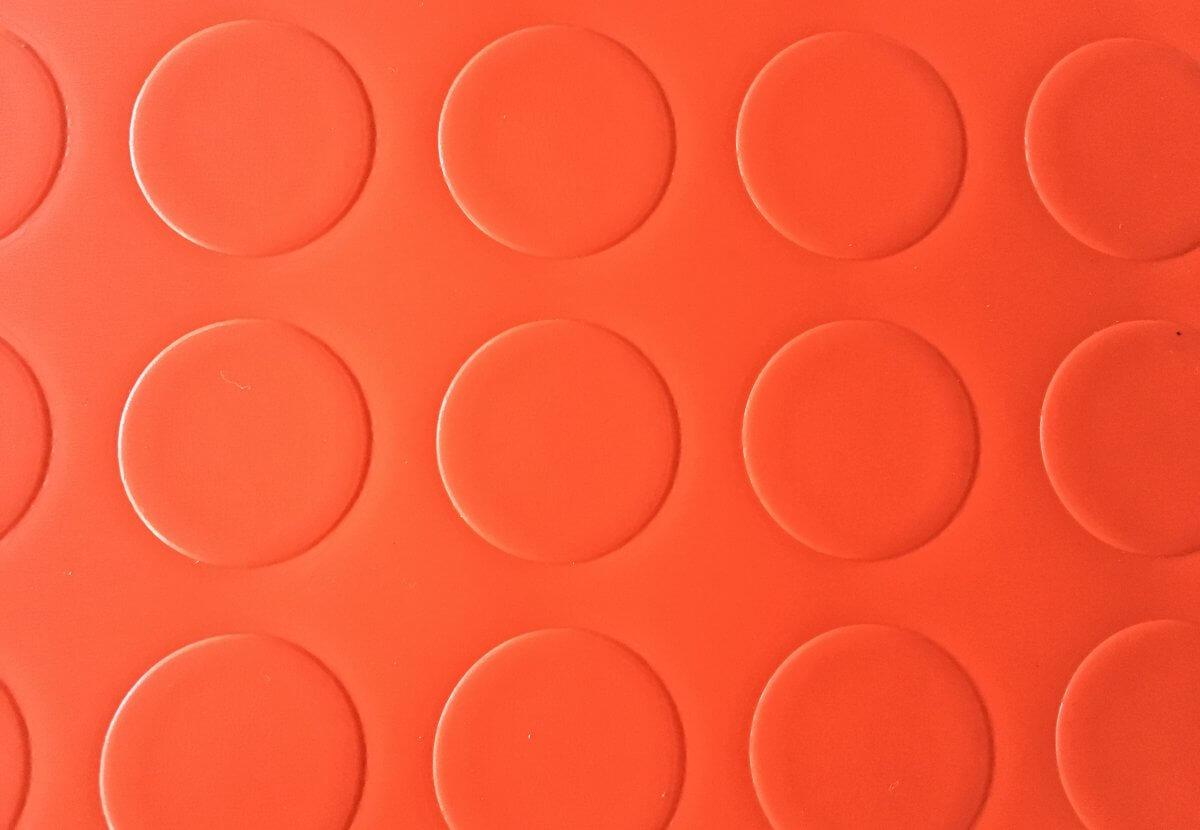 uelo PVC Pastillas rojo en DecoStands