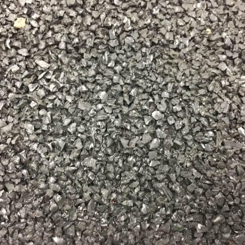 Loseta de Caucho granulado en Negro en Decostands