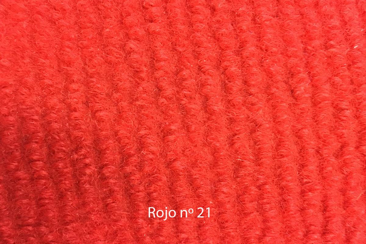 Moqueta Amanda color rojo 21 en DecoStands