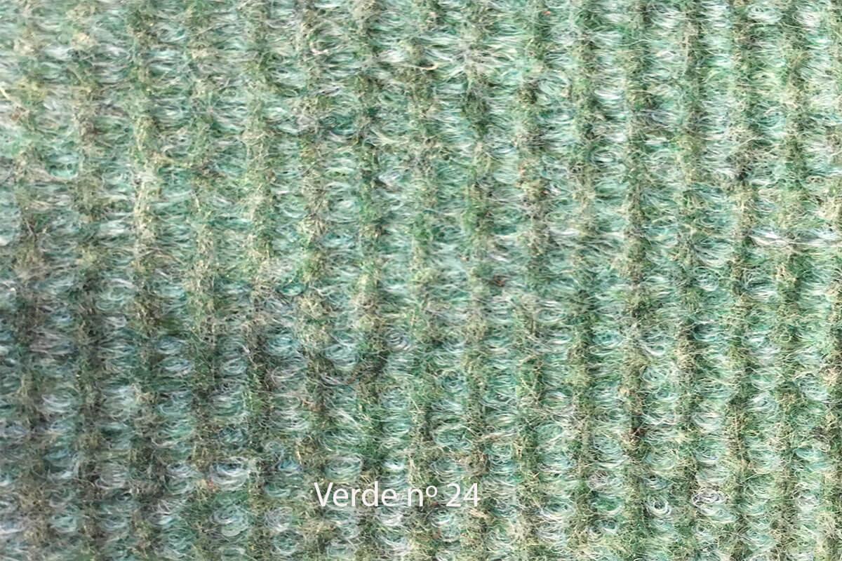 Moqueta Amanda color verde en DecoStands