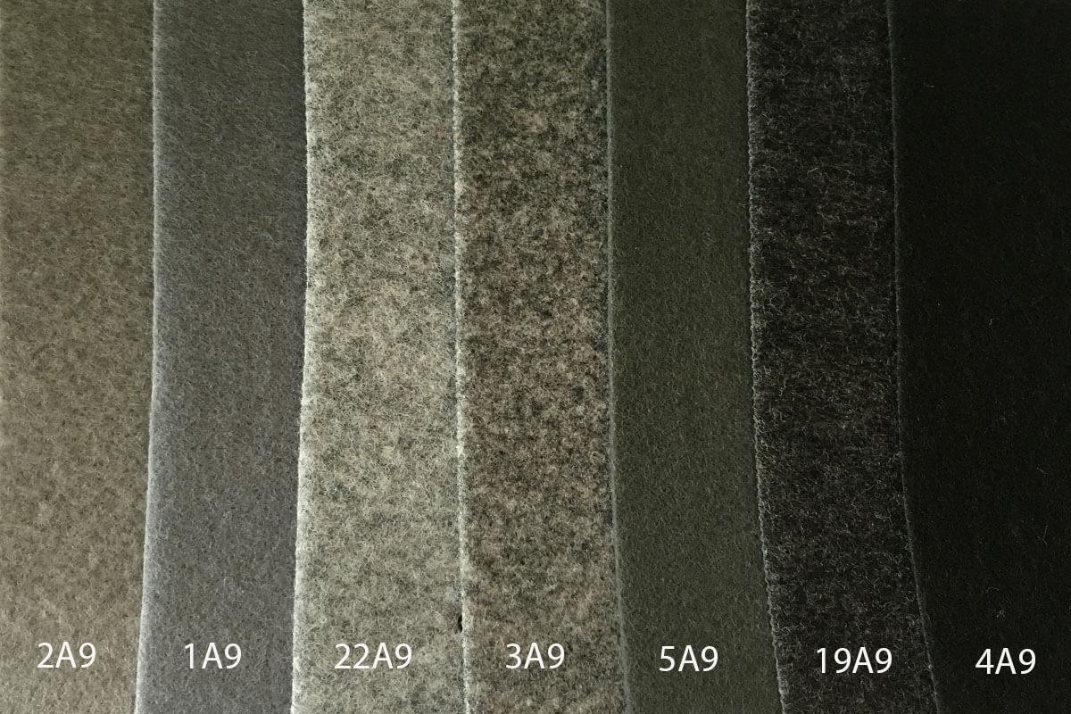 Moqueta Ferial colores grises y negro en DecoStands