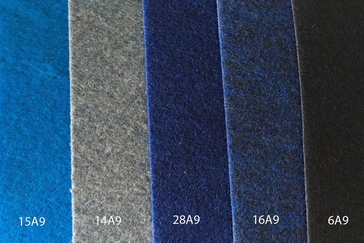 Moqueta Ferial en colores azules en DecoStands