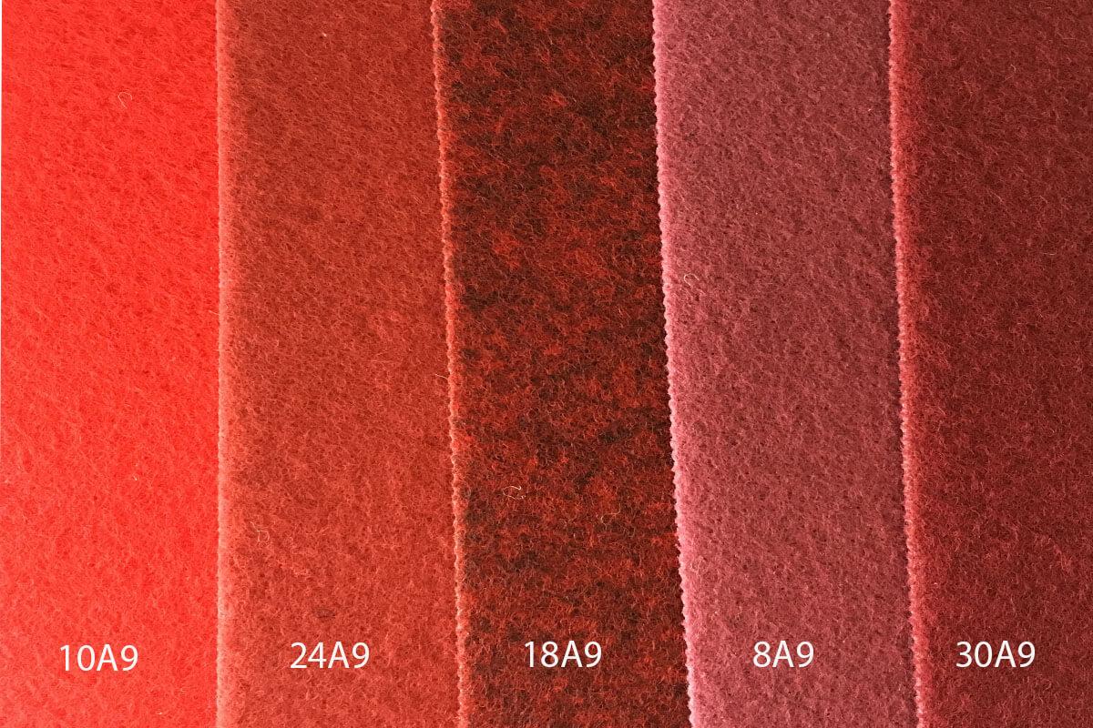 Moqueta Ferial en colores rojos en DecoStands
