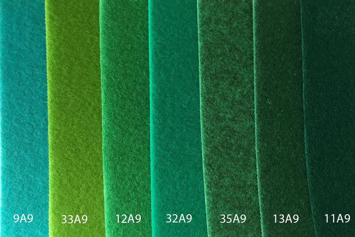 Moqueta Ferial en colores verdes en DecoStands