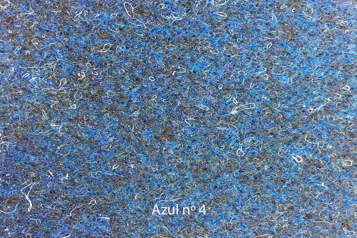 Moqueta Oro color azul en DecoStands
