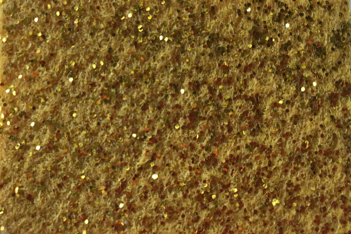 Moqueta Purpurina oro en DecoStands