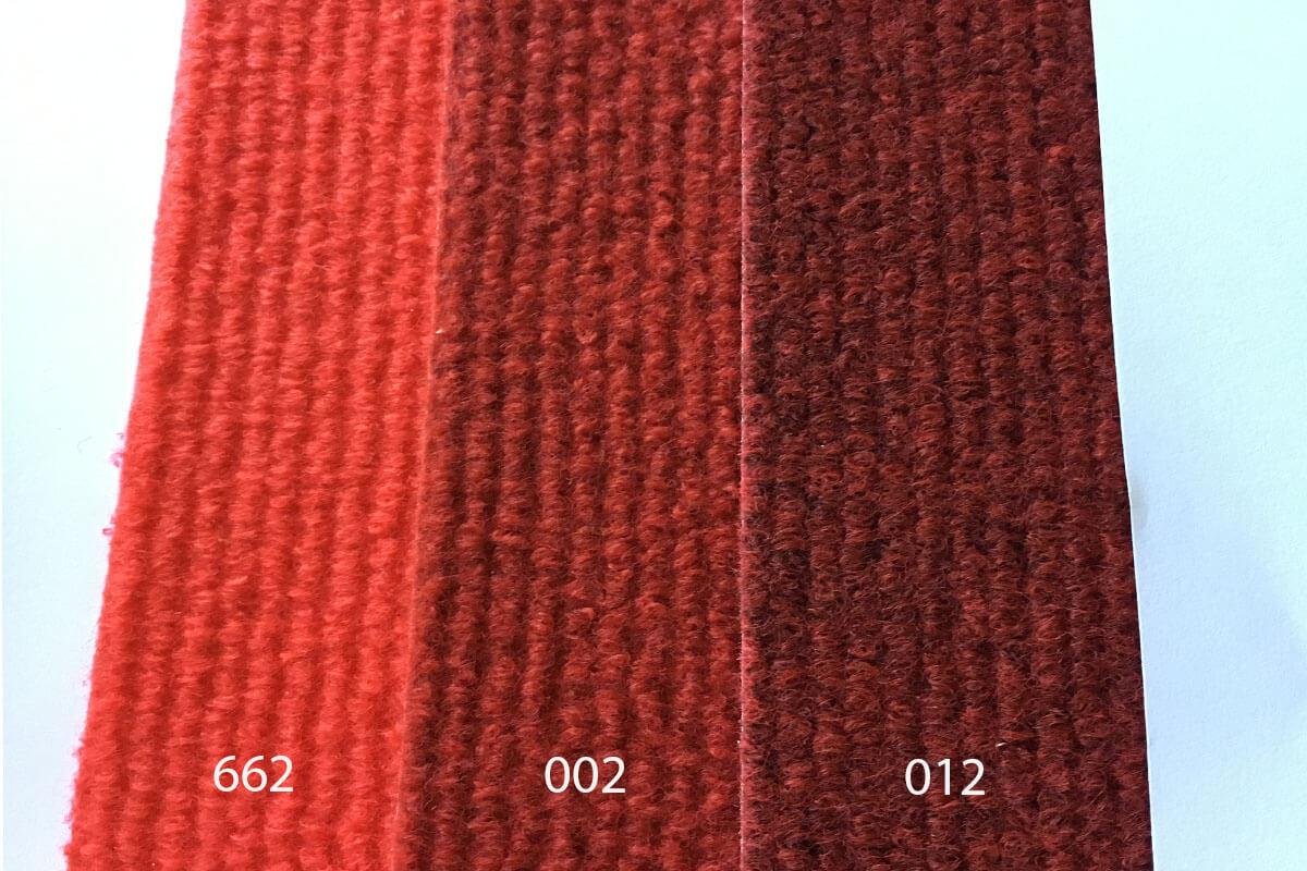 Moqueta Tan colores rojos en DecoStands