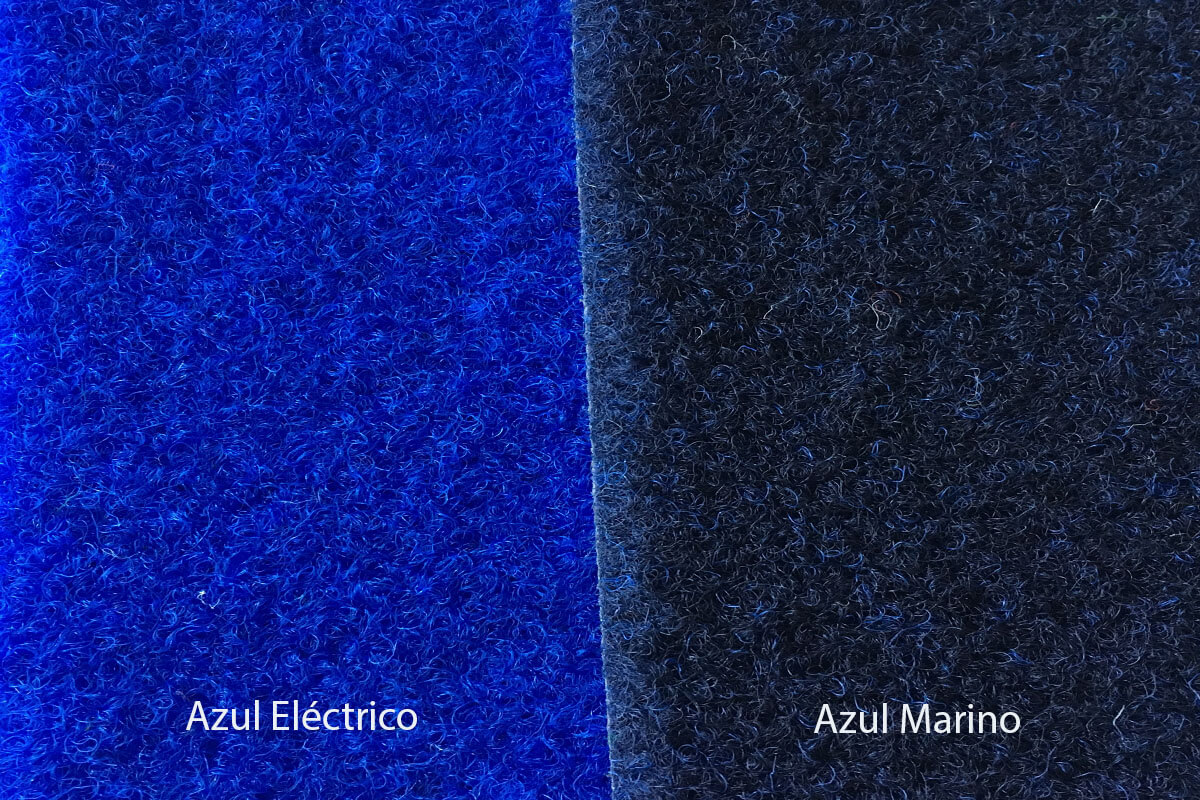 Moqueta exterior Jardín azul eléctrico y azul marino en DecoStands