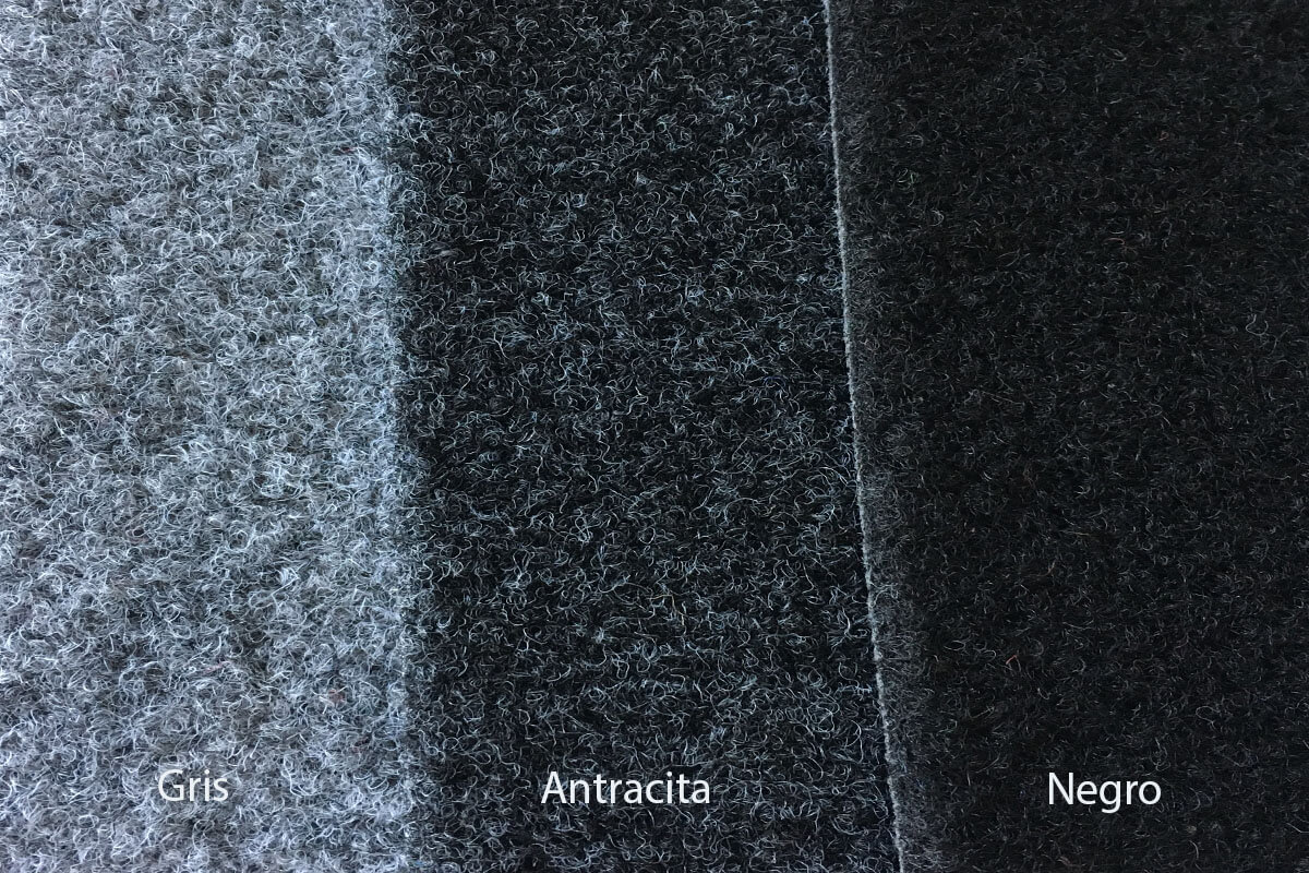 Moqueta exterior Jardín gris antractia y negro en DecoStands