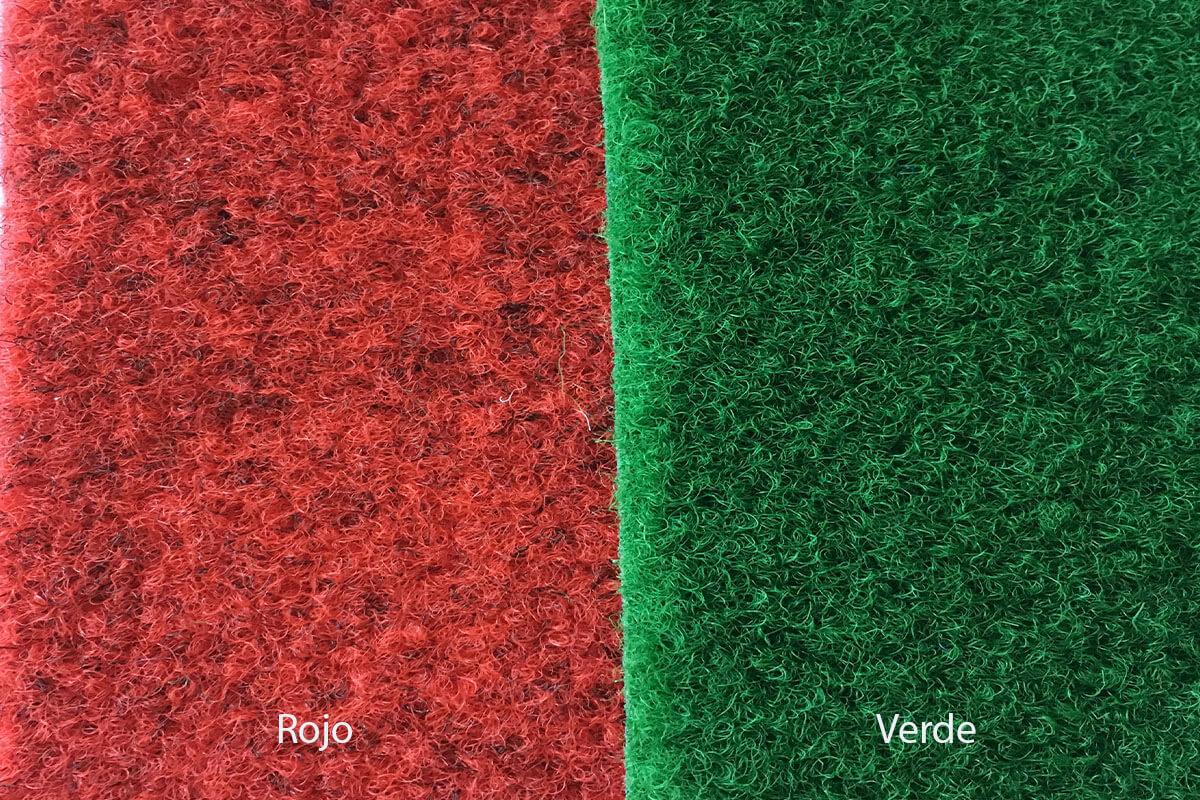 Moqueta exterior Jardín rojo y verde en DecoStands