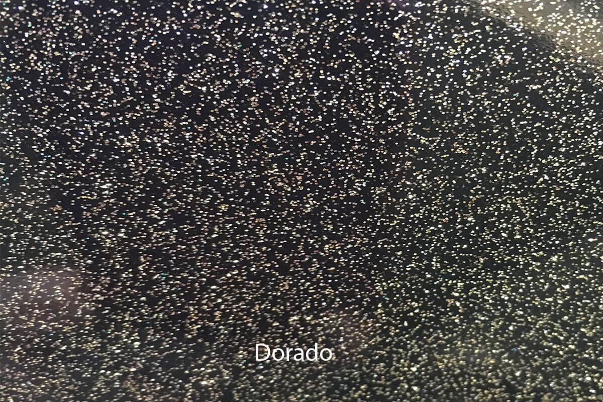 PVC Purpurina Dorado en DecoStands