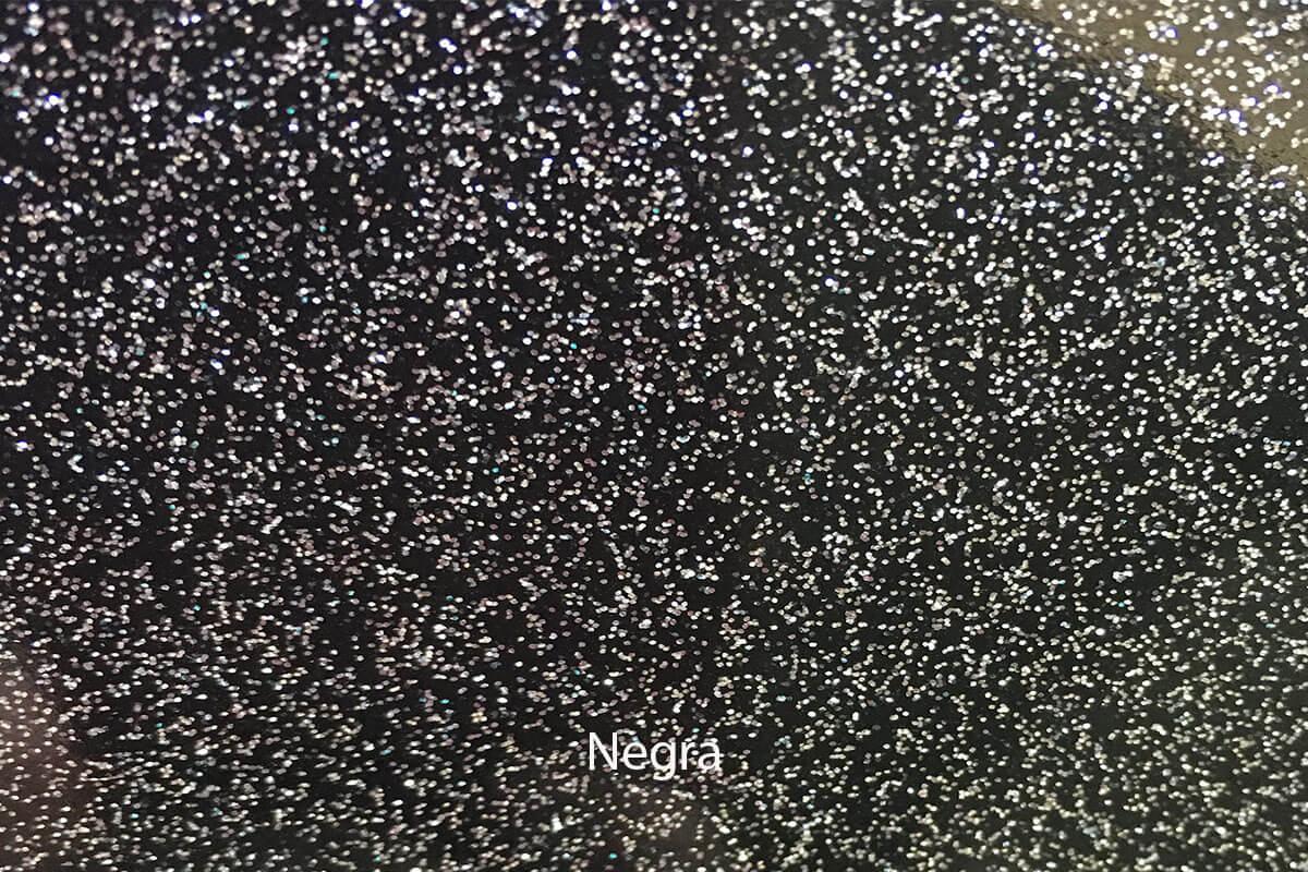 PVC Purpurina negro en DecoStands