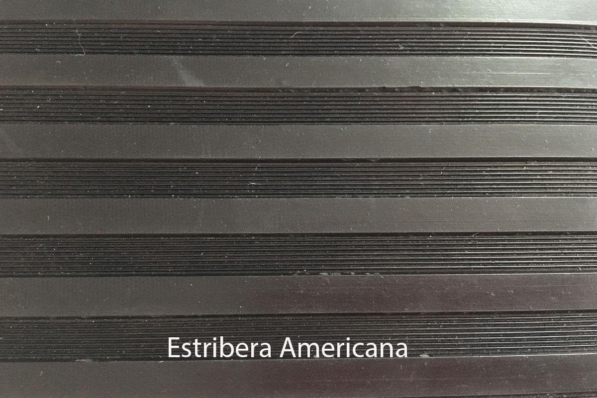 Pavimento de caucho en rollo Estribera Americana en DecoStands