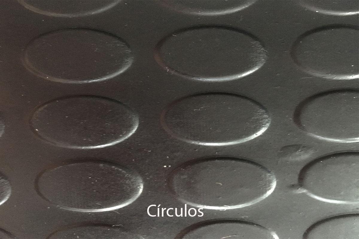 Pavimento de caucho en rollo de círculos en DecoStands