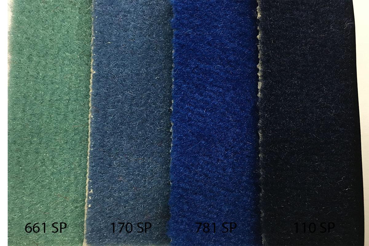 Alfombra Speed en tonalidades azules en DecoStands