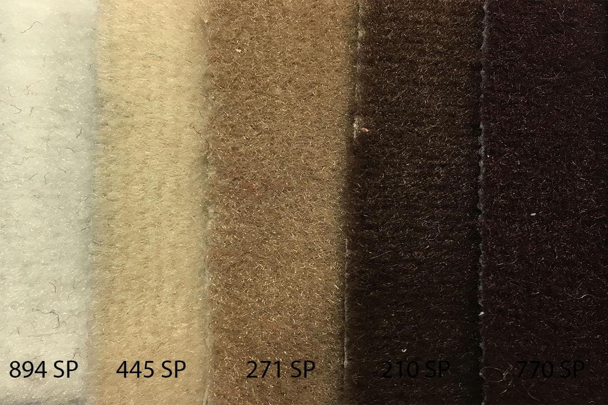 Alfombra Speed en tonalidades marrones en DecoStands