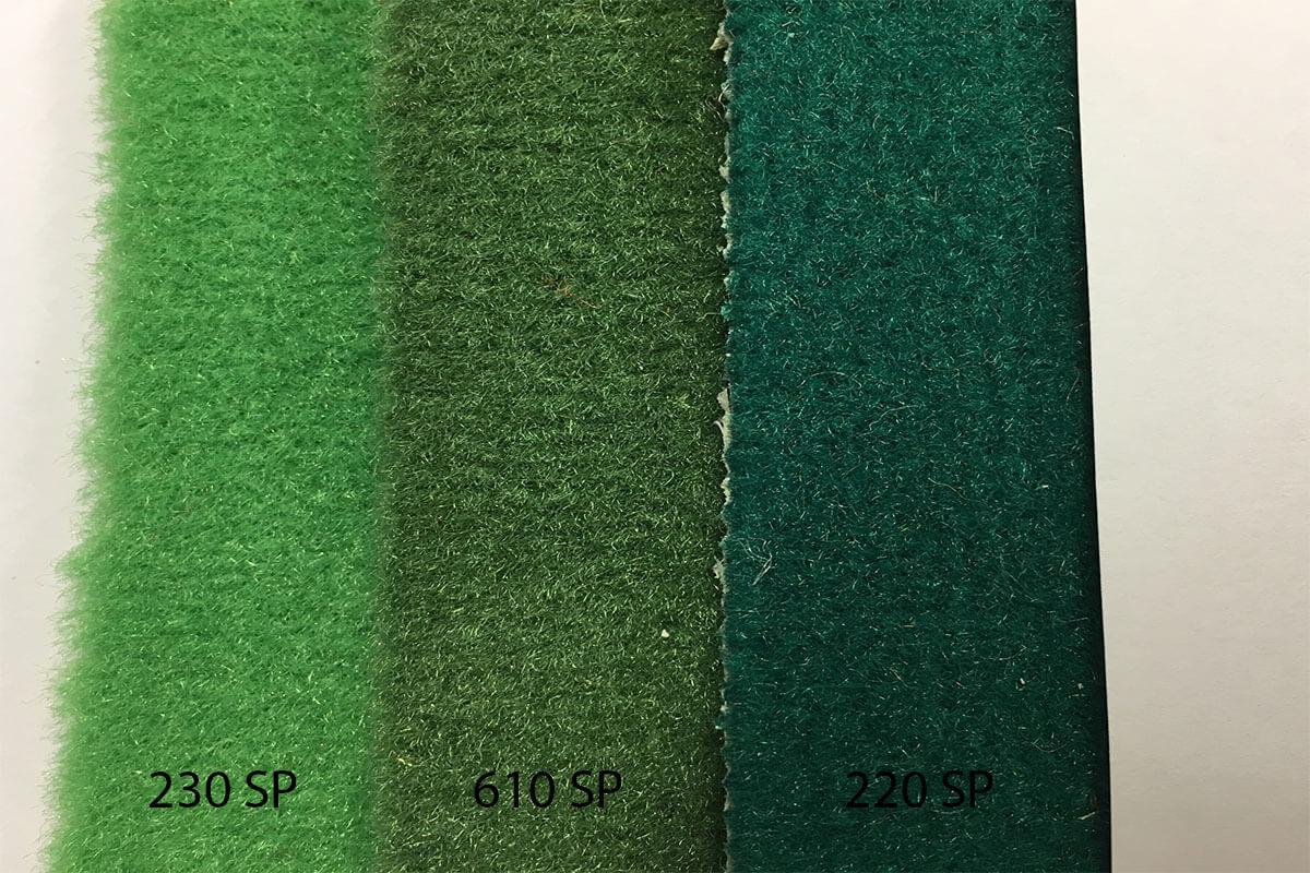Alfombra Speed en tonalidades verdes en Decostands