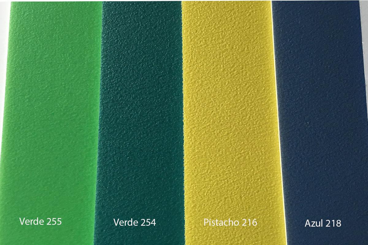 Suelo Vinílico Color Life verde, pistacho y azul en DecoStands