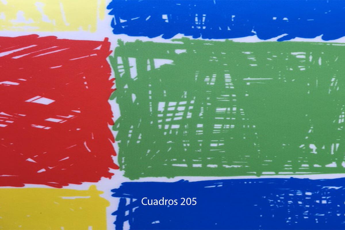 Suelo Vinílico Infantil Play Design Cuadros 205 en DecoStands
