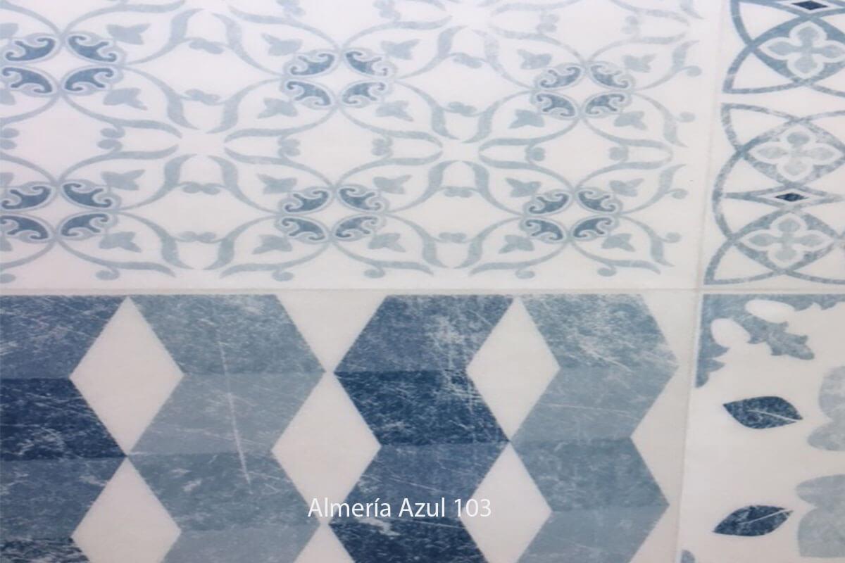 Suelo Vinílico Mosaico Almería Azul 103 en DecoStands