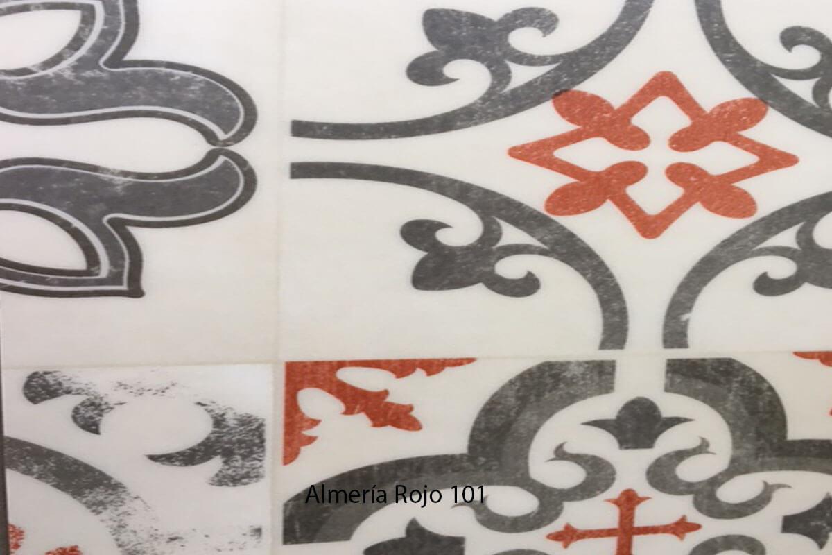 Suelo Vinílico Mosaico Almería Rojo 101 en DecoStands