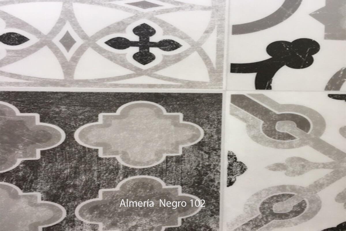 Suelo Vinílico Mosaico Almeria Negro 102 en DecoStands