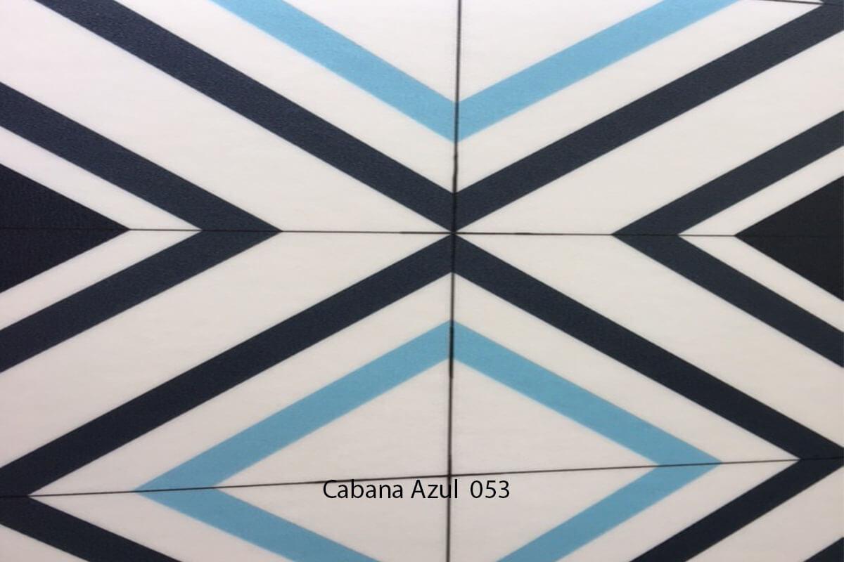 Suelo Vinílico Mosaico Cabana Azul 053 en DecoStands