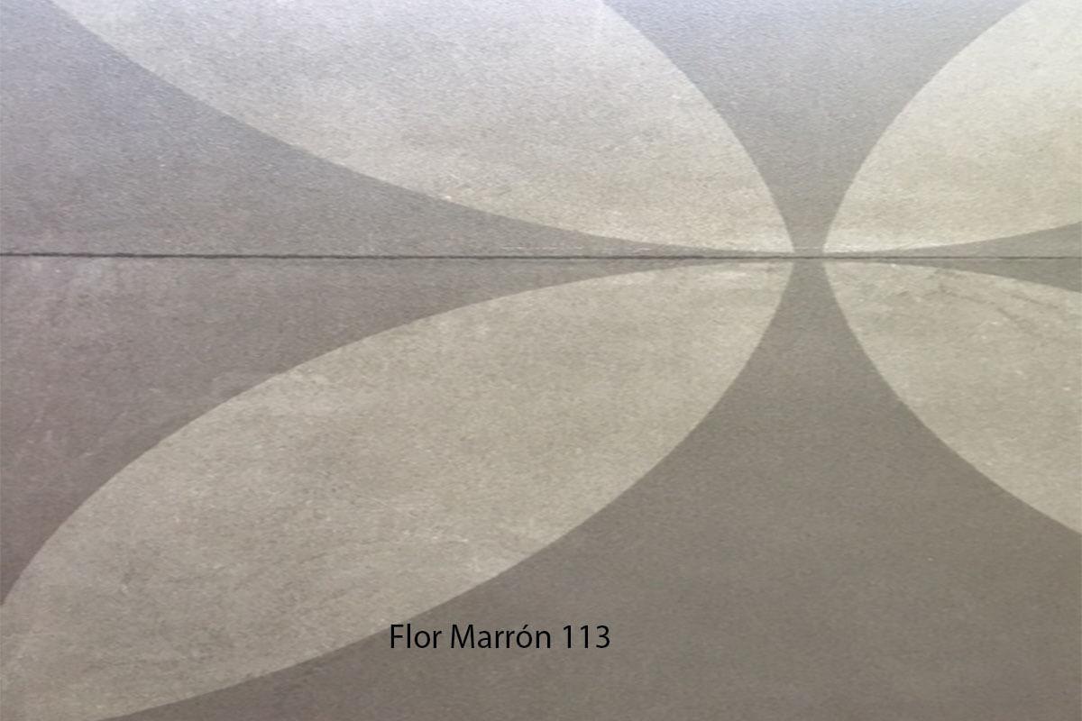 Suelo Vinílico Mosaico Flor Marrón 113 en DecoStands