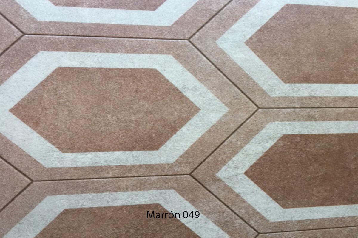 Suelo Vinílico Mosaico marrón 049 en DecoStands