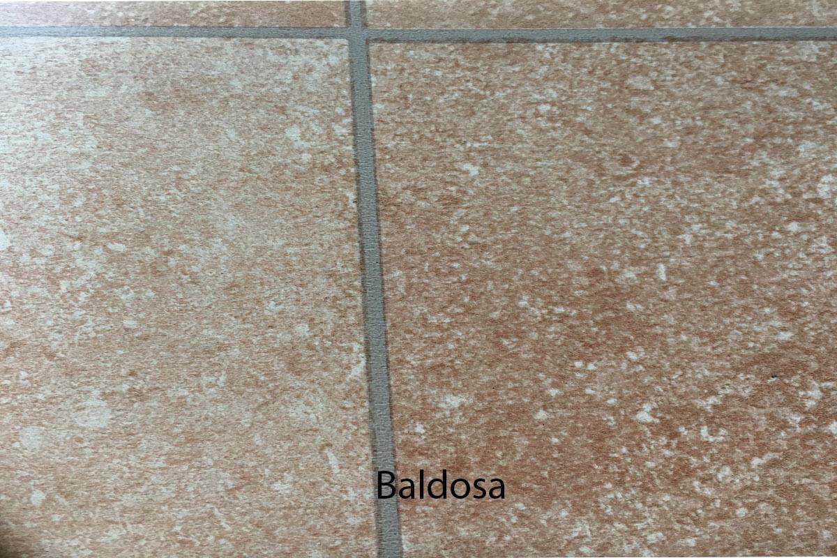Suelo de PVC efímero imitación baldosa en DecoStands