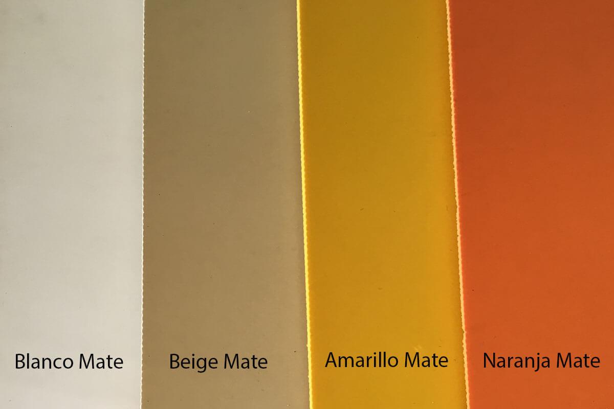 Suelo de PVC mate en blanco , beigem amarillo y naranja en DecoStands