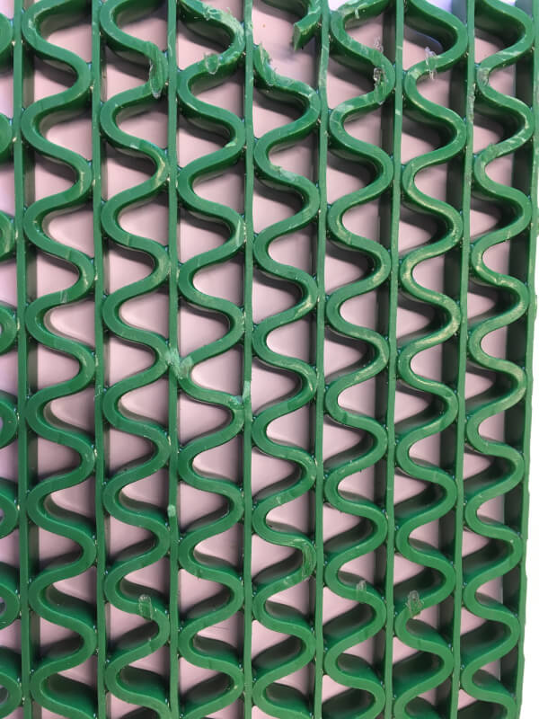 Felpudo de pvc en Zig-Zag de 8 mm color verde en DecoStands