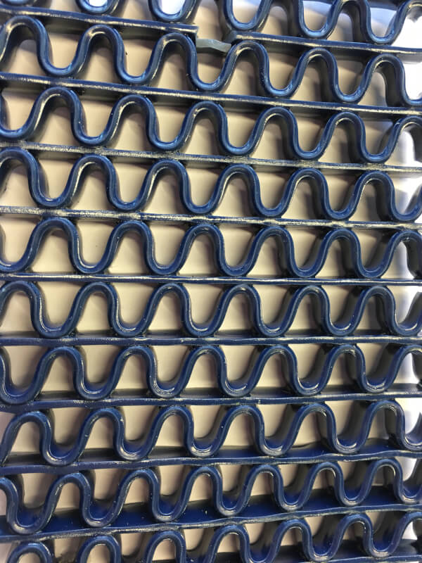 Felpudo de pvc en Zig-Zag de 8 mm en color azul de DecoStands