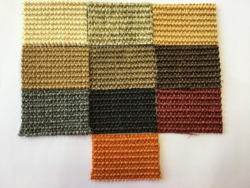 Alfombras de sisal en colores en DecoStands