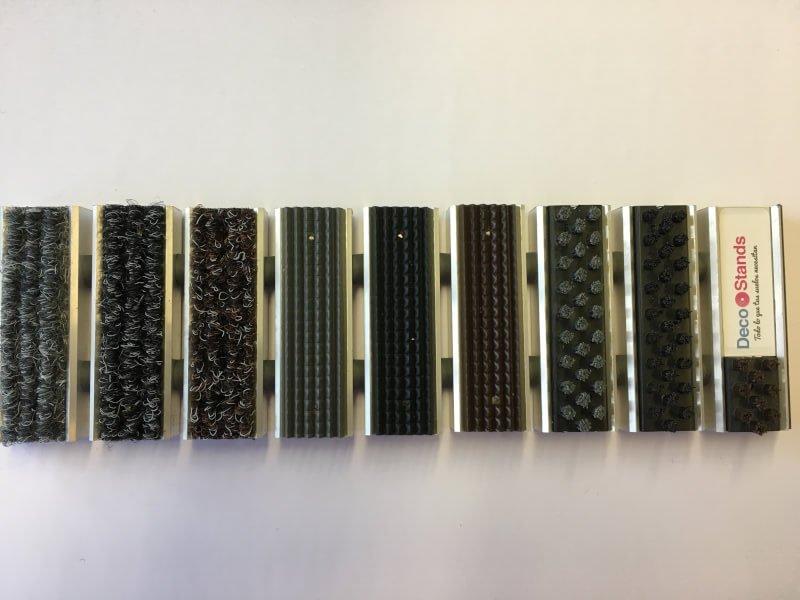 Felpudo de aluminio textil y en goma en DecoStands